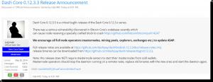 DASH Announcement